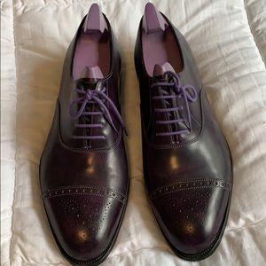John Lobb Cap-Toe Suede Derby Shoes size 11 1/2